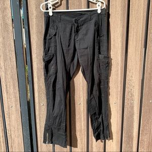 Pants - Comfy Junior's Black Cargo Pants with Zip Ankles